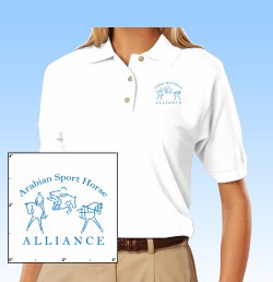 embroidered cotton polo