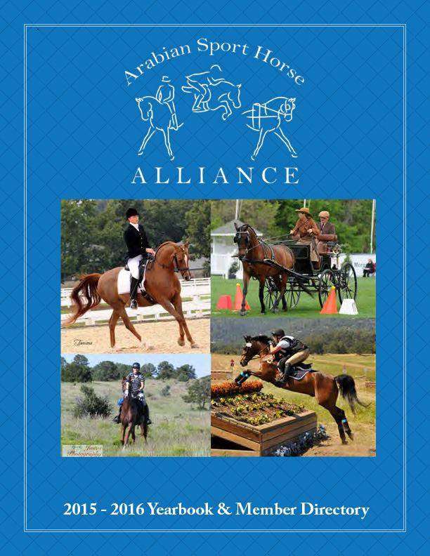 2015-2016 Arabian Sport Horse Alliance Yearbook and Member Directory